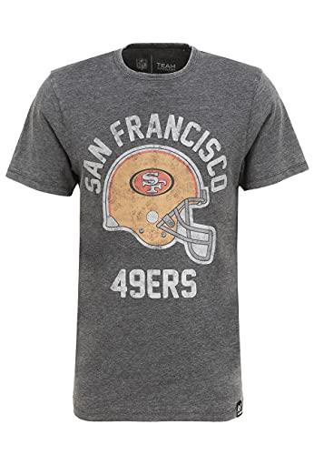 Recovered NFL San Francisco 49ers - Maglietta con stampa casco Multicolore M