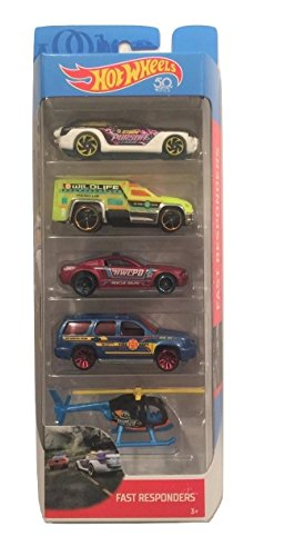 Hot Wheels 2018 50th Anniversary Fast Responders 1:64 Scale 5-Pack