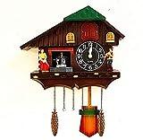 XLBHSH Europa cuco reloj pájaro cantando pared granja produ