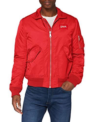 Schott NYC Herren 210100 Jacke, Rote, Large