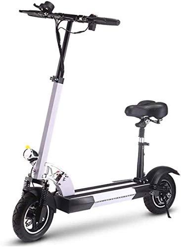 RDJM Bici electrica Bicicletas eléctricas rápidas for Adultos Kick Scooter eléctrico con Asiento Desmontable, Mini Bicicleta eléctrica de 36V con 15.6Ah batería de Litio for conmutar y Viajes