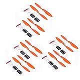 YIJIABINGRU 12pcs 10x4.5 1045R Props 1045 Remplacement de l'hélice for DJI F450 F550 Multi-Copter RC caméra Drone de pièces de Rechange CW CCW Kits Wing Parties de Drone (Color : Orange)