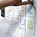 mcSquares Stickies Dry-Erase Sticky Notes. Reusable Whiteboard Stickers 4 inch Square 6 Pack - Post Reminders, Labels, Lists, and Decals - Never Buy Paper Notes Again, Its Eco-Friendly!