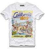 DOPEHOUSE T-Shirt Camiseta California Games Winter Commodore Amiga C64 Gaming Gamer Nerd Hacker Retro Vintage XL