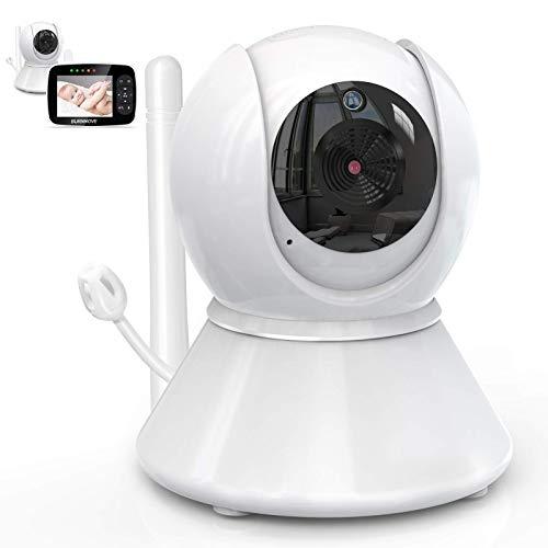 BURNNOVE Cámara para Monitor de Vídeo para Bebés de 3,5 Pulgadas(Necesita Conectar la Unidad Baby Monitor Screen para Usar)(Pantalla no Incluido)