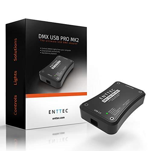 ENTTEC DMX USB Pro MK2, USB zu DMX Interface (RDM) 1024 Kanäle, 2 Universitäten