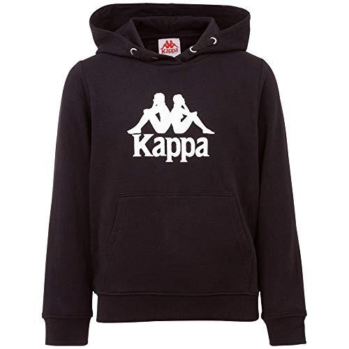 Kappa Taino Kids - Felpa con Cappuccio, Unisex, Unisex - Bambini, Felpa con Cappuccio, 705322J, Caviale, 164