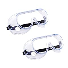 Industrial Grade Protection - Our Protective Goggles Meets the requirements, designed for Industrial, Commercial, and Househould Duties. Anti-Fog & Crystal Clear - Made with a clear, uncoated, polycarbonate (99% UV protection) lens, impact and scratc...