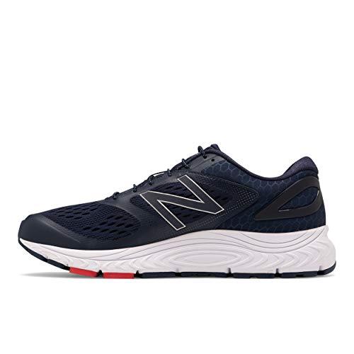 New Balance Men's 840 V4 Running Shoe, Pigmen/White/Team Red, 10.5 X-Wide