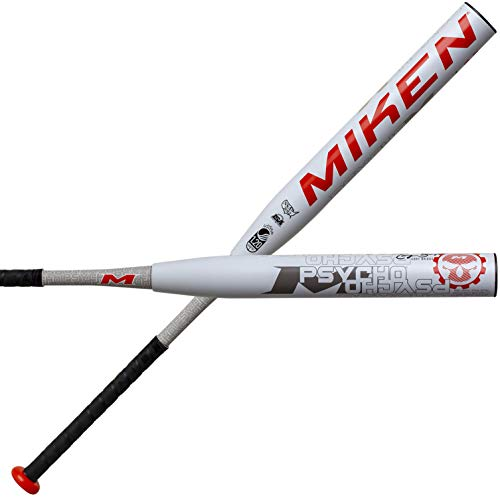 Miken 2020 Cory Briggs Psycho Maxload USSSA Slow Pitch Softball Bat, 27.5 oz, 14 inch Barrel Length