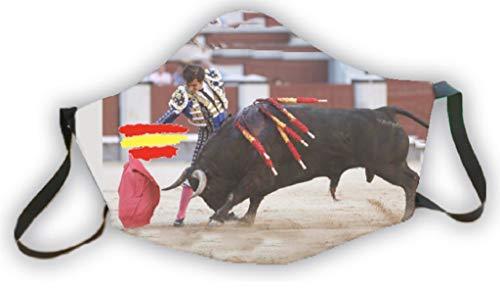Mascarilla homologada reutilizable elegante diseño bandera España y toro torero 3capas de protección lavable estampada coleccionista exclusivas