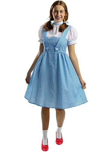 Funidelia | Disfraz de Dorothy - El Mago de Oz Oficial para Mujer Talla M ▶ El Mago de Oz, Películas & Series - Color: Azul - Licencia: 100% Oficial - Divertidos Disfraces y complementos