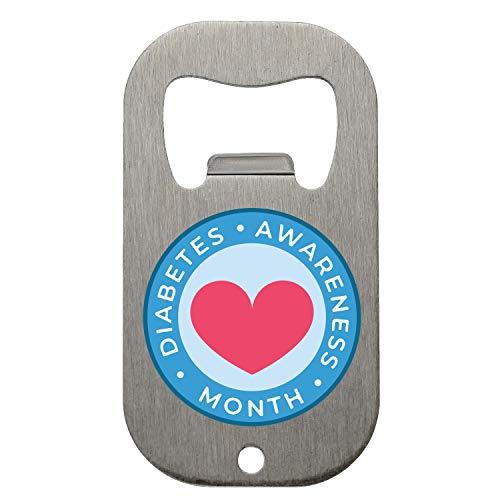 NoMoreFamous Diabetes Awareness Month Heart Flaschenöffner Bottle Opener