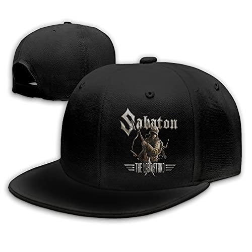 Sabaton Gorras de béisbol Unisex Flat Bill Sombreros para el Sol Ajustables Sombrero de Hip Hop Baseball Caps