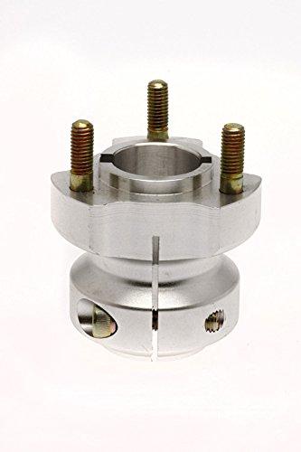 Kart Radstern hinten - geeignet für 30 mm Achse - Länge: 62/95/115 mm - silber (62mm)