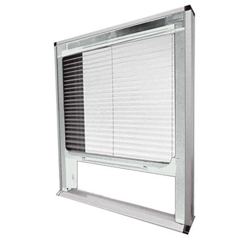 Zanzariera plisse bianca per finestra 140x160 cm tenda anti zanzare 2451