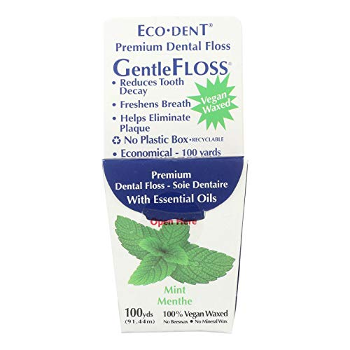 Eco-Dent Premium Dental Floss GentleFloss, Mint Flavored 100 yards by Eco-Dent
