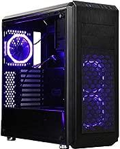 DIYPC Vanguard-V6-RGB Black Dual USB3.0 Steel/Tempered Glass ATX Mid Tower Gaming Computer Case