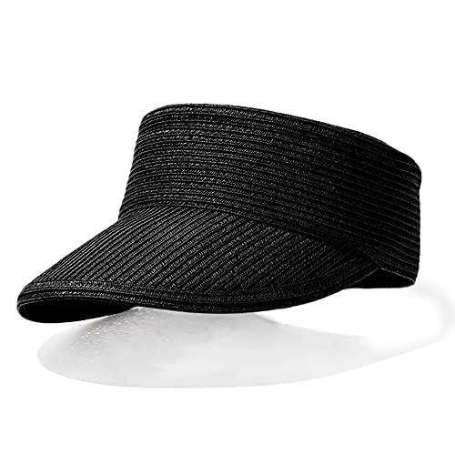TJLSS vacío Top SUNCAP Mujer DE Verano al Aire Libre Sombrero de Playa al Aire Libre Portátil Plegable Roll-up Wide Brim Sun Hat Fashion Casual Paja Viseras (Color : Style Four)