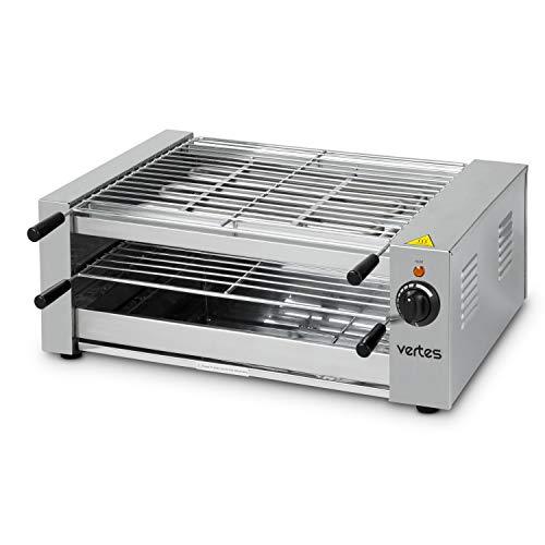 vertes elektrischer BBQ-Grill 3000 Watt (230 V, Temperatur stufenlos regulierbar bis 520°, 463 x 382 mm Grillfläche, 2x Grillrost)