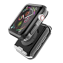 Durable design: Premium TPU material ensures perfect performance for the iwatch regardless of scratches, bumps, or drops. Nice Looking: Fashion Piuellia cover newly designed, preserving the aesthetic appeal of the actual watch case, brings you a bran...