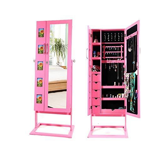 Gabinete De La Joyería El marco de la joyería con espejo puede...