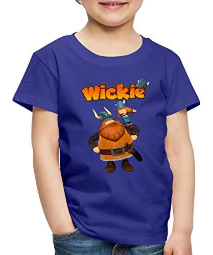 Wickie Und Die Starken Männer Wickie & Halvar Kinder Premium T-Shirt, 134-140, Königsblau