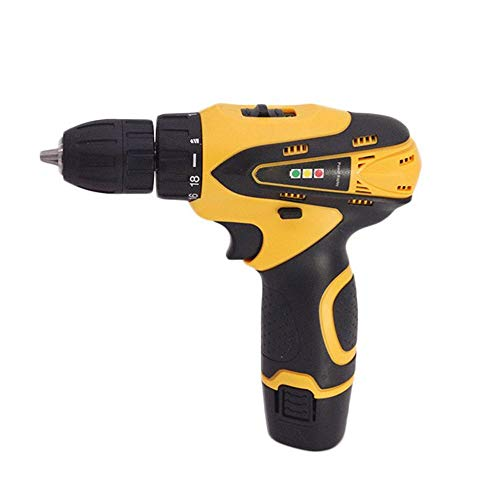 Sturdy Miniature Electric Screwdriver, Rechargeable Hand Drill, Multi-function Household Lithium Drill (Color : Yellow)