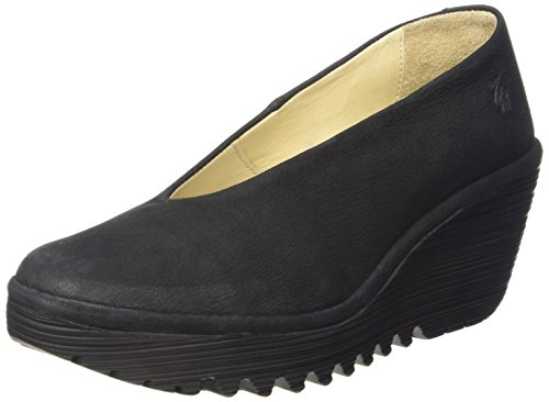 Fly London Damen Yaz Pumps, Schwarz (Black 179), 42 EU