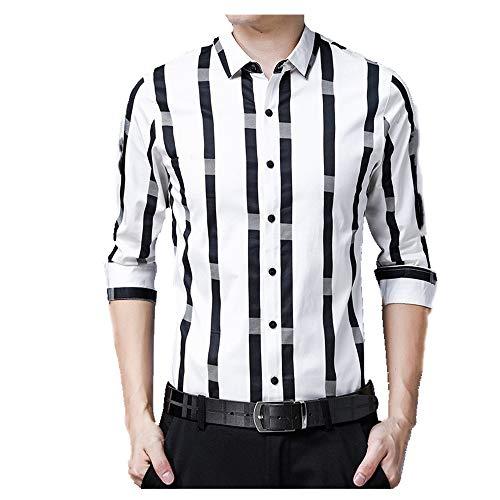 N\P Camisa de manga larga para hombre otoño manga larga otoño