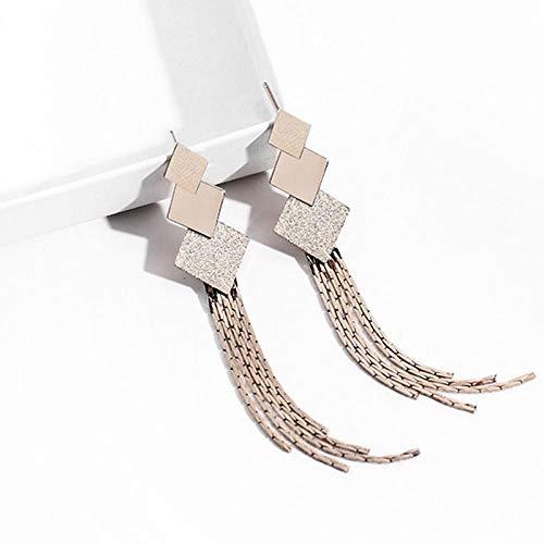 HLII 925 sterling zilveren oorbellen voor dames, retro multi-layer plek, ronde ringen, lange temperament oorbellen voor bruiloft en verjaardagsfeest, Kerstmis, geschenk sieraad