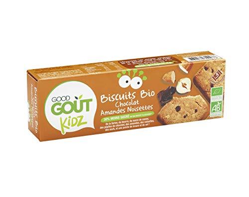 Good Goût - BIO - Kidz Biscuits Chocolat Amandes Noisettes dès 3 Ans 110 g