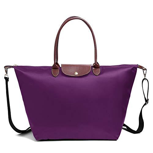 Clutch bag for Women (Medium with Shoulder Strap, Purple)