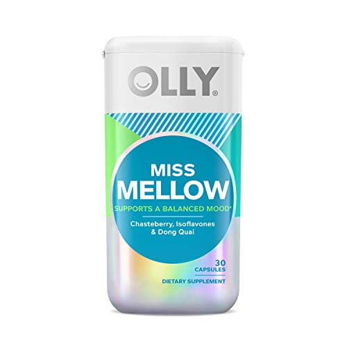 OLLY Miss Mellow Capsules, Hormone Balance and Mood Support, Vegan Capsules, Supplement for Women - 30 Count