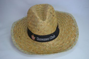 Havana Club Strohhut Hut Karneval Fasching Cap Mütze