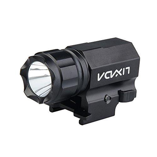 Lixada タクティカルライト 600LM 2-Mode 高輝度 IPX6防水 ドットサイト フラッシュライト ウェポンライト