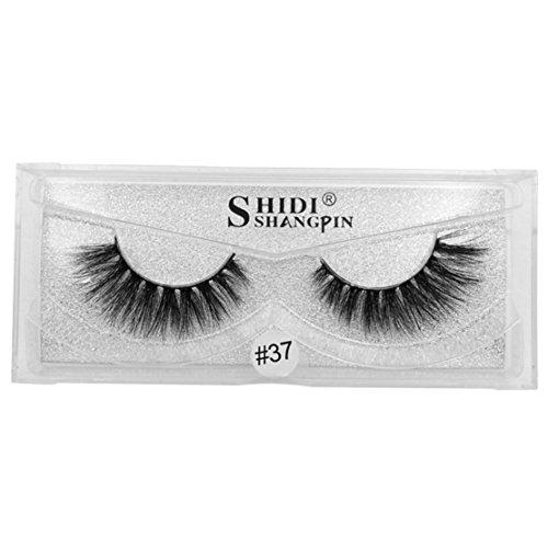 happy event 1 Paar Luxus 3D Kreuzen Falsche/Künstliche Wimpern Natürliche für Make-up | 3D Luxury False Eyelashes HOT Eye Lashes (A)