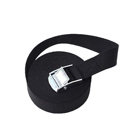 Cuerda del cabrestante 1M / 2M / 3M / 4M / 5M Cinturón de correa de amarre de hebilla negra correas para la bicicleta de motocicleta de automóviles con hebilla metálica Cuerda de remolque fuerte Cintu