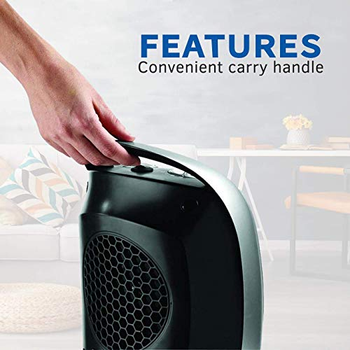 Lasko 5409 Ceramic Portable Space Heater with Adjustable Thermostat - Features Widespread Oscillation to Distribute Warm Air, Silver