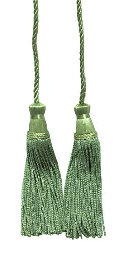 Light Olive Green Double Tassel / Tassel Tie with 10cm Tassels / Spread 74cm, Style# CDCT COLOR: 29