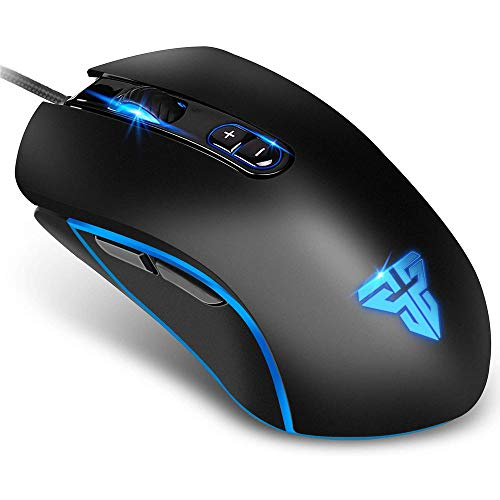 Fantech Basic Wired Gaming Mouse X9, RGB 7 Macro Buttons Programmable True 4800 DPI Claw Grip Comfort Beginner Gaming Mouse for Window PC, Black