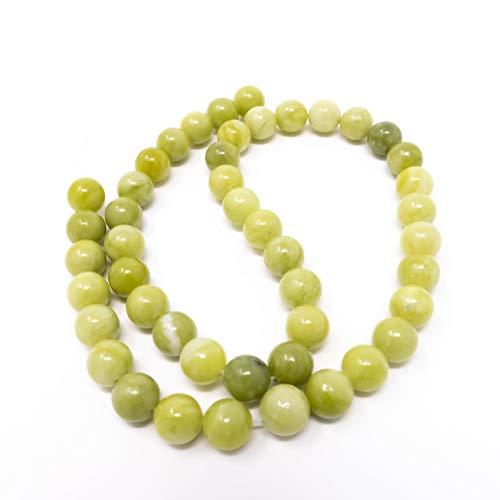 Perles rondes en péridot vert Bigigloo Pierres semi-précieuses. 6 mm, 8 mm ou 10 mm., vert/jaune, 8 mm