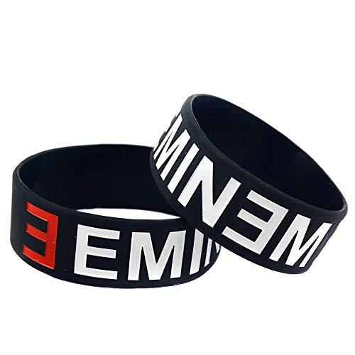 Sxuefang Bracelet Silicone Bracelet Eminem Creative Gift Set de 2 pièces