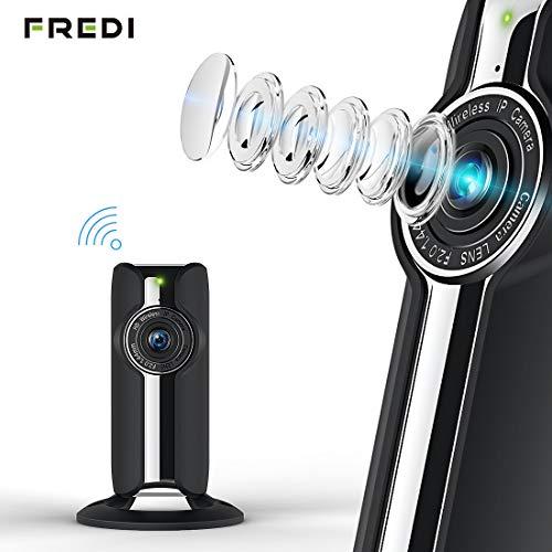 1080P HD WLAN IP Kamera Indoor Haustier Kamera Sicherheitskamera IP Cam Überwachungskamera FREDI WLAN Netzwerk Kamera mit IR Nachtsicht/Bewegungsmelder/Baby Monitor (schwarz)