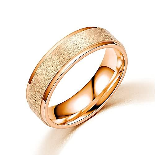 Banemi Anelli Acciaio Inossidabile Anelli per Uomo Oro Sabbia Perlata Smerigliata Misura Dell'anello 20