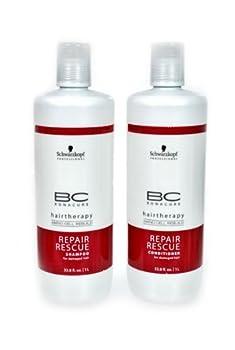 Schwarzkopf Bonacure Hairtherapy Amino Cell Rebuild Repair Rescue Shampoo and Conditioner 1 L Each Duo Set
