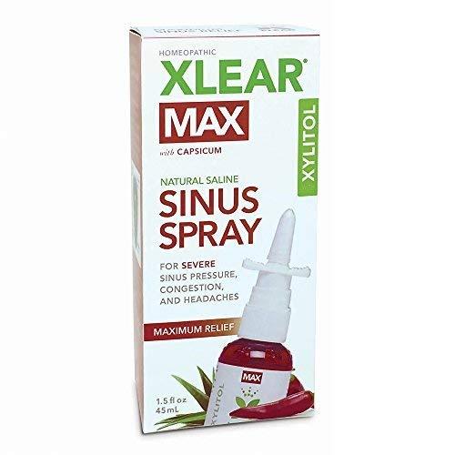 XLEAR MAX Nasal Spray, 1.5oz, New! Natural Formula With Xylitol,...