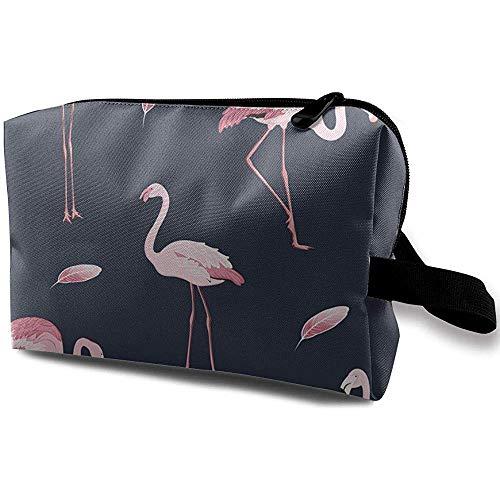 Voyage Cosmetic Bag Portable Sac À Main Rose Flamingo Trousse De Toilette Petits Sacs De Maquillage Cas Organisateur