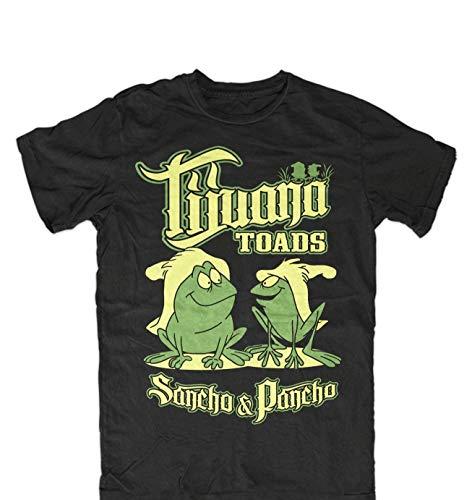 Tijuana Toads T-Shirt Men's Fashion Short Sleeves Cotton Tops Clothing, Black