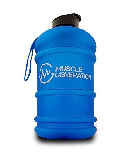 Musclegeneration Water Jug - Botella grande de agua (2,2 L), bidón de agua XXL, para entrenamiento, deporte, gimnasio y fitness, culturismo, deportes de lucha